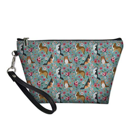 chaqlin - Bolsa de cosméticos de tela impermeable para viaje, portátil, organizador de maquillaje, bolsa de embrague con cremallera para mujeres y niñas regalos (patrón 3)