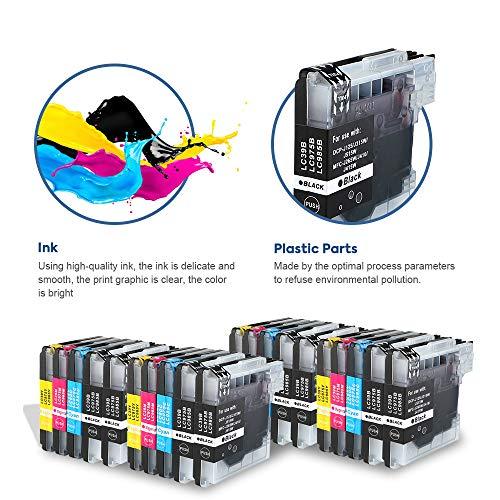 SMARTOMI LC985 LC985 compatibles con Brother LC-985 Cartucho de Tinta, para Brother Printer DCP-J125 J315W J515W MFC-J220 J265W J415 J410 Series(20 Cartuchos: 8 Negro, 4 Cian, 4 Magenta, 4 Amarillo)