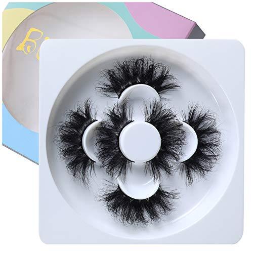 25mm Lashes Mink Lashes 3 pairs multiple Styles Dramatic Real Mink False Eyelashes BEFACL …