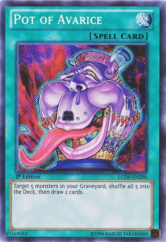 YU-GI-OH! - Pot of Avarice (LCJW-EN290) - Legendary Collection 4: Joey's World - 1st Edition - Secret Rare