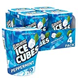 Ice Breakers Ice Cubes Gum, Peppermint, Sugar Free with Xylitol, 40 Pieces (Pack of 4) (334630)