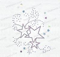 【スパングル】 スパンコールモチーフシート スター・星 アイロン・ホットフィックス Lサイズ YSP268