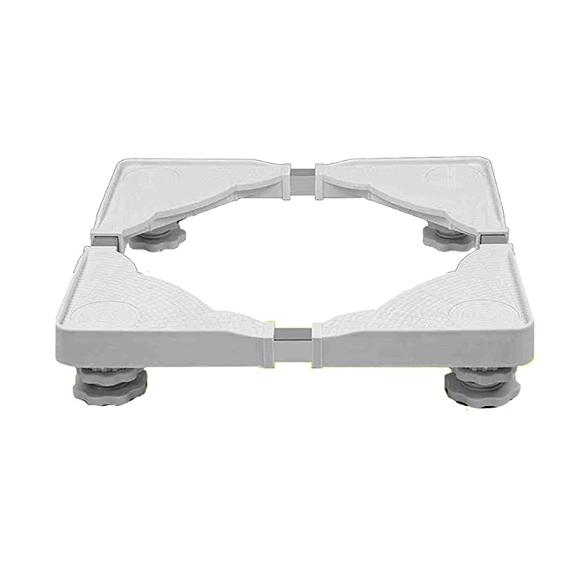 Heavy-Duty Stainless Steel White Appliance Roller Base Square Universal Appliance Wheels 4 Feet 400KG Load Mobile Bases