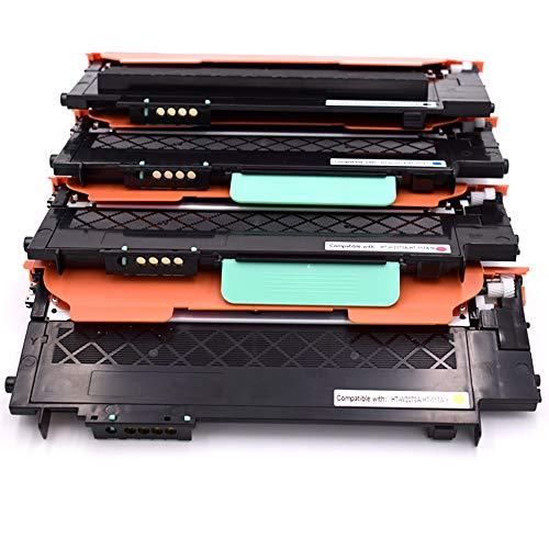 Office Ink Toner Reemplazo 117A W2070A W2071A W2072A W2073A Cartucho de tóner Compatible para HP Color Laser 150a 150nw 178nw 179fnw con el Chip más Nuevo (1 Negro, 1 Cian, 1 Magenta, 1 Amarillo)