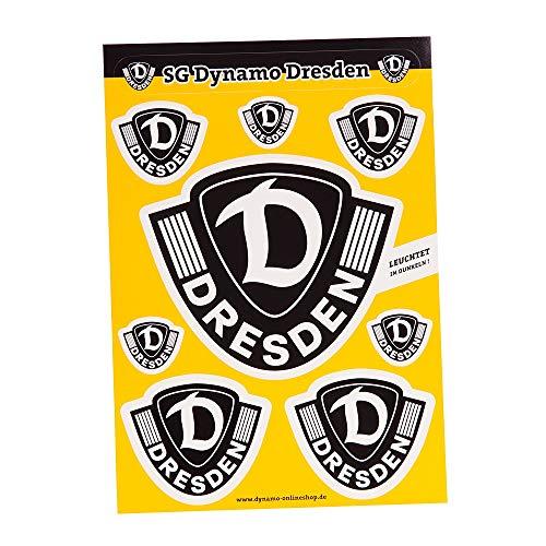 SG Dynamo Dresden Aufkleber Set Leuchtlogo A5