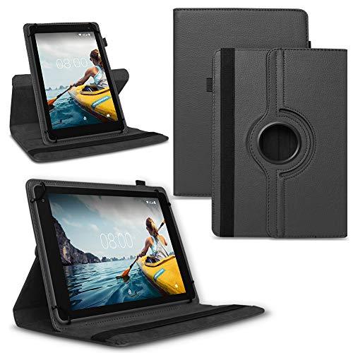 NAUC Tablet Hülle kompatibel für Medion Lifetab E Serie 10 10.1 Zoll Tasche Schutzhülle Hülle 360° Drehbar Cover, Tablet:Medion Lifetab E10420