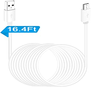 USB Power Extension Cable for Security Camera - 16.4FT Charging Cable for Wyze Cam, Yi Camera, Oculus Go, Echo Dot Kid Edition, Nest Cam, Netvue, Arlo Pro Q, Blink, Furbo Dog and Home Smart Security