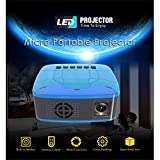 OUYAWEI Erelectronics Mini proyector LED de bolsillo, proyector de videojuegos, proyector de cine en casa, enchufe británico