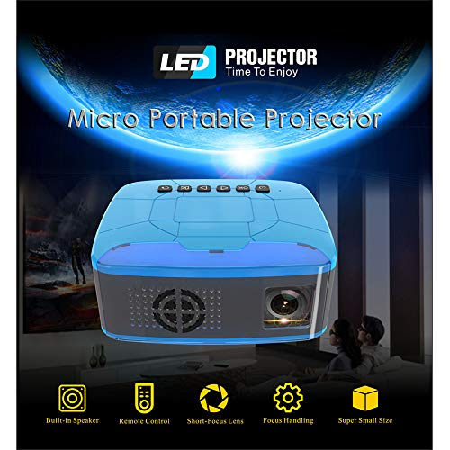 SSSabsir Pocket Mini LED Projector Video Game Projector Beamer Home Theater Projector AU plug
