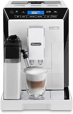 DeLonghi ECAM44660 Eletta Fully Automatic Espresso, Cappuccino and Coffee Machine with One Touch LatteCrema System and Milk Drinks Menu (White, ECAM44660B)