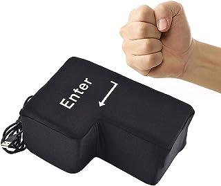 Gutsbox Big Enter Key Cojín Botón Oficina Espuma Almohada Anti-estrés Tamaño Herramientas con Descompresión USB