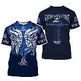 HOSD Camiseta de Hombre de impresión 3dt Camiseta de impresión Digital Tatuaj...