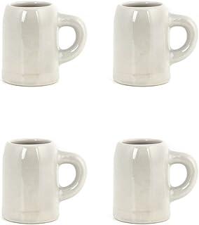 Kikkerland Mug Cups, Set of 4, Ceramic, Glass, 6,2 x 5 x 6,7 cm