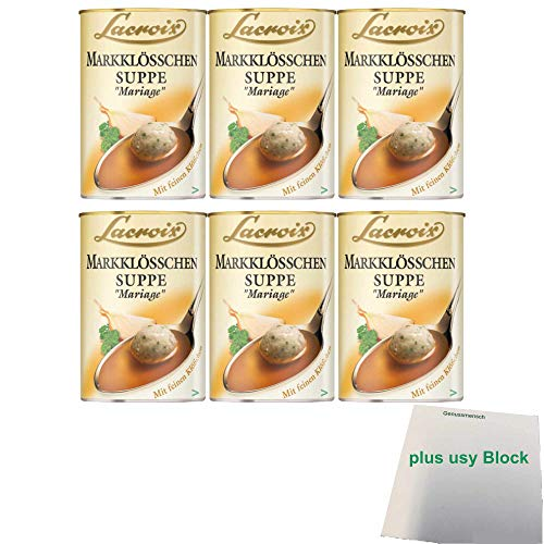 Lacroix Markklösschen Suppe Mariage 6er Pack (6x400ml Dose) + usy Block