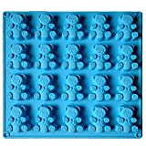 2-20 Cavity (40 Total Bears) JUMBO size Gummy bear Mold Candy Soap Molds Jello Shots Cupcake topper Chocolate Making Ice tray Random Color