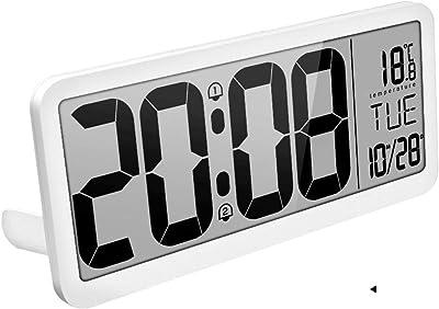 Yongyong Reloj Despertador De Gran Tamaño LED Reloj Digital De Música Electrónica Reloj De Pared Pantalla
