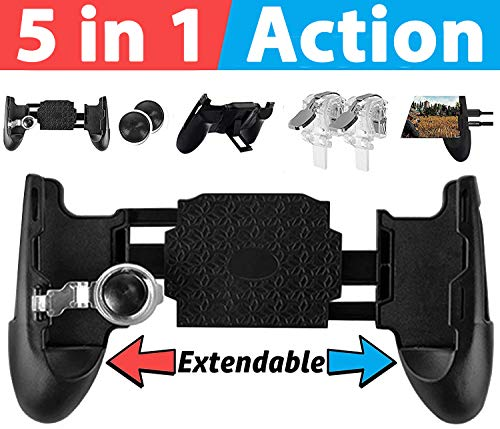 PUBG Mobile Game Controller and Gamepad Fortnite/Knives Out/Rules of Survival for iPhone iOS/Android?Upgraded Version?GAMR+ Sensitive Shoot and Aim Triggers for L1R1 Joystick Gaming Handle