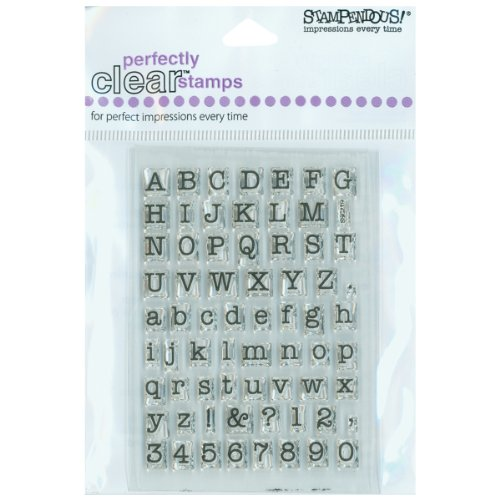 Stampendous SSC219 Small Typewriter Alphabet ( Packaging may vary )