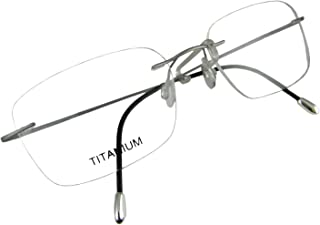Circleperson Rimless Titanium Eyeglass Frames RX-able Men Hingeless Light Weight 55-18-140