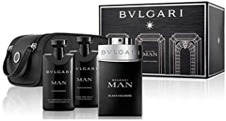 Bvlgari Man In Black Cologne Set (EDT, 100ml + After Shave Balm, 75ml + Shampoo Shower Gel, 75ml)