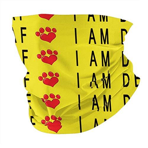 Xinflag@10 Pañuelo para cuello con texto en inglés 'I Am Sordo, color amarillo