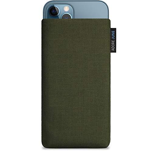 Adore June Classic Verde-Oliva Funda Compatible con iPhone 12 / iPhone 12 Pro, Material Resistente Efecto Limpiador de Pantalla