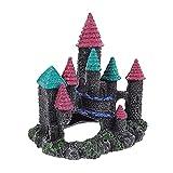 POPETPOP Estatua de Piedra del Castillo de Resina del Acuario del Terrario del Lugar Oculto para El Micropaisaje de Los Peces