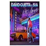 Wsxyhn Poster und Drucke David Guetta Musik Abdeckung