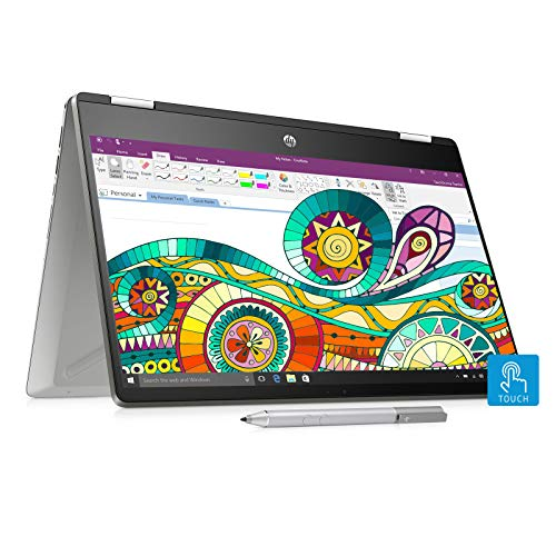 HP Pavilion x360 14-dh0047TU 2019 14-inch Touchscreen Laptop (8th Gen Core i3-8145U/4GB/1TB+256GB SSD/Windows 10 Home/Integrated Graphics), Natural Silver