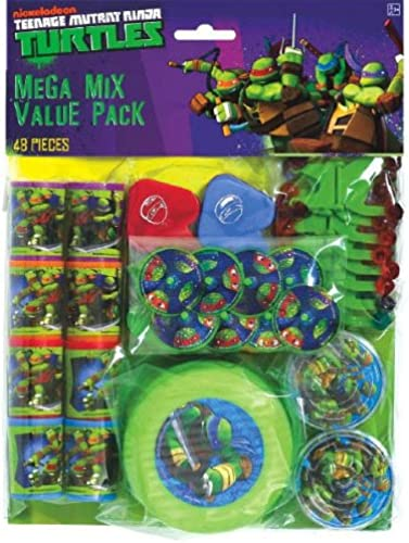 artículos novedosos Amscan Awesome TMNT TMNT TMNT Mega Mix Birthday Party Favors Value Pack (48 Piece), 11.3 x 8.3, Multi by Amscan  oferta especial