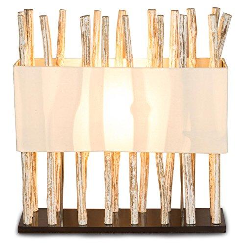 *levandeo Lampe Tischlampe/Tischleuchte aus recyceltem Holz – Design Holzlampe Treibholz 50x17cm 54cm hoch – Jede Lampe Ein Unikat naturbelassenes Massivholz*