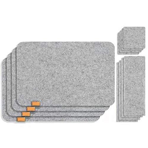 12 unids/set manteles individuales de mesa beber posavasos cubiertos bolsa titular almohadilla protectora taza mat para coche