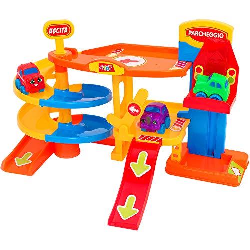 Globo Toys Globo – 12 854,9 cm Vitamina _ G de Parking Garage avec Ascenseur et 3 Voitures Playset