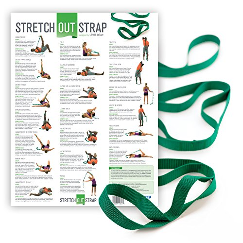 OPTP The Original Stretch Out Strap with Exercise Poster Top Choice of Physical Therapists & Athletic Trainers