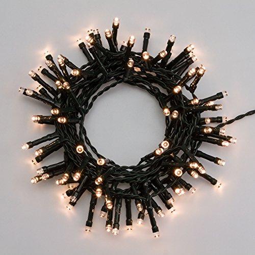 XMASKING Catena a Batteria 4,75 m, 96 LED Bianco Caldo, con Giochi di Luce, Timer 6/18, luci di Natale, luci Natalizie, luci a Batteria