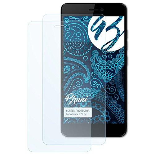 Bruni Schutzfolie kompatibel mit Allview P7 Lite Folie, glasklare Bildschirmschutzfolie (2X)