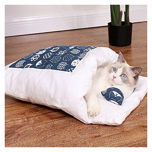 KEHUITONG PSWK Bed de Gato de Perro extraíble Bolsa de Dormir del Gato Sofás Sofás Mat, Invierno Casa cálida Casa Pequeño Mascota Cama Puppy Kennel Nest Cojín Productos para Mascotas.