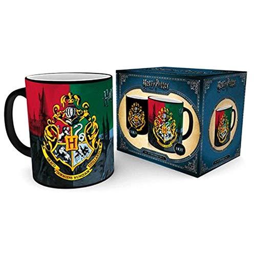 GB eye MGH0078 - Harry Potter Hogwarts Wappen, Thermoeffekt Tasse, Keramik, 300 ml