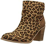 Very Volatile Women's Lacey Ankle Bootie, Tan/Leopard, 7 B US