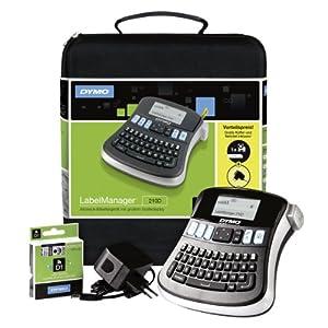 Dymo S0964070 LabelManager 210D - Etiquetadora (cintas D1: 6, 9, 12 mm, fuente de alimentación [Importado de Alemania]
