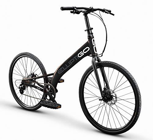 ElliptiGO RSUB Road Performance Outdoor Stand Up Bike and Best Hybrid Indoor Exercise Trainer, Black