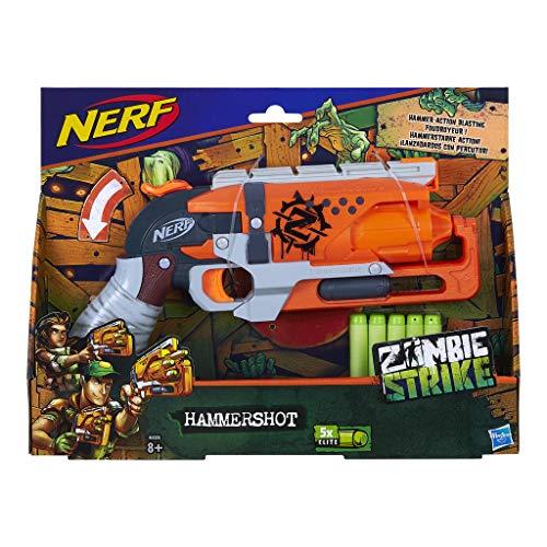 Nerf Zombie Strike HAMMERSHOT, Spielzeugblaster, für Kinder ab 8 Jahren