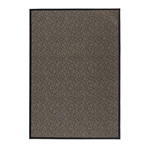 Alfombra vinílica de PVC de salón para Exterior marrón contemporánea de 140x200 cm - LOLAhome