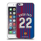Head Case Designs Licenciado Oficialmente FC Barcelona Ansu Fati 2021/22 Players Home Kit Group 1 Carcasa de Gel de Silicona Compatible con Apple iPhone 6 Plus/iPhone 6s Plus
