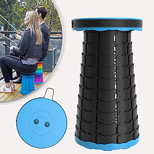 Klapkruk draagbare outdoor camping kruk telescopische kruk licht, stabiel en in hoogte verstelbaar zitkruk (zwart/blauw)