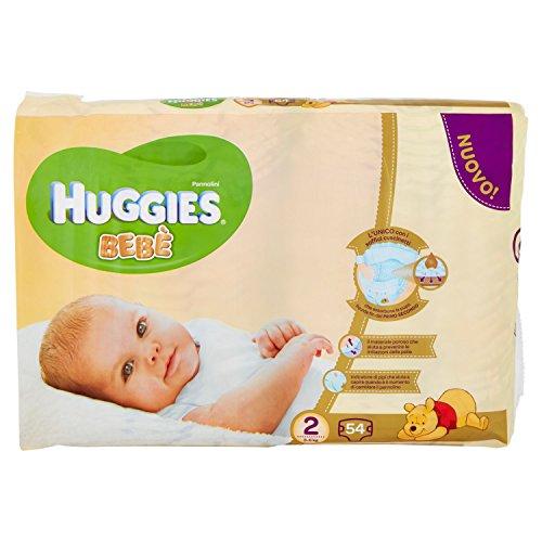 Huggies - Bebè - Pañales - Talla 2 (3-6 kg) - 56 pañales