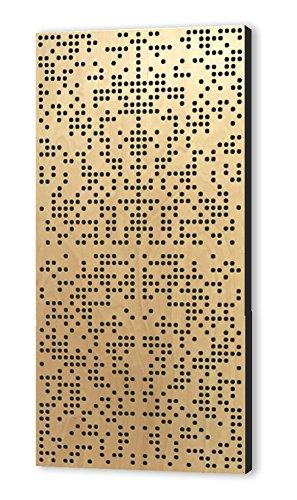 Binary Difuser 122x61x10 by Addictive Sound Akustikdiffusor, Akustikpaneel, Homerecording, akustische Isolierung, Bassfalle, Schalldämmung für Studio, Büro, Zuhause, spezielles Binärmuster (Natural)