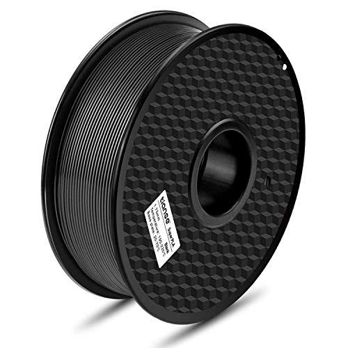 TIANSE Super Filament PLA 1.75mm 1kg, Pas d'enchevêtrement PLA Filament 1.75mm, 3D Printing Filament, Accuracy +/- 0.03 mm, 1KG (2.2 LBS) Noir