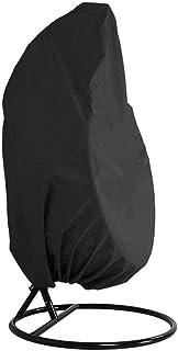 Funda para Silla Colgante, Impermeable Cubierta de Silla Colgante para Patio, Resistente al Viento, Anti-UV, Tela Oxford 210D Resistente Cubierta para Mecedora, Fundas para Columpios (115 x 190 cm)