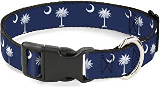 Buckle-Down Cat Collar Breakaway South Carolina Flags 8 to 12 Inches 0.5 Inch Wide